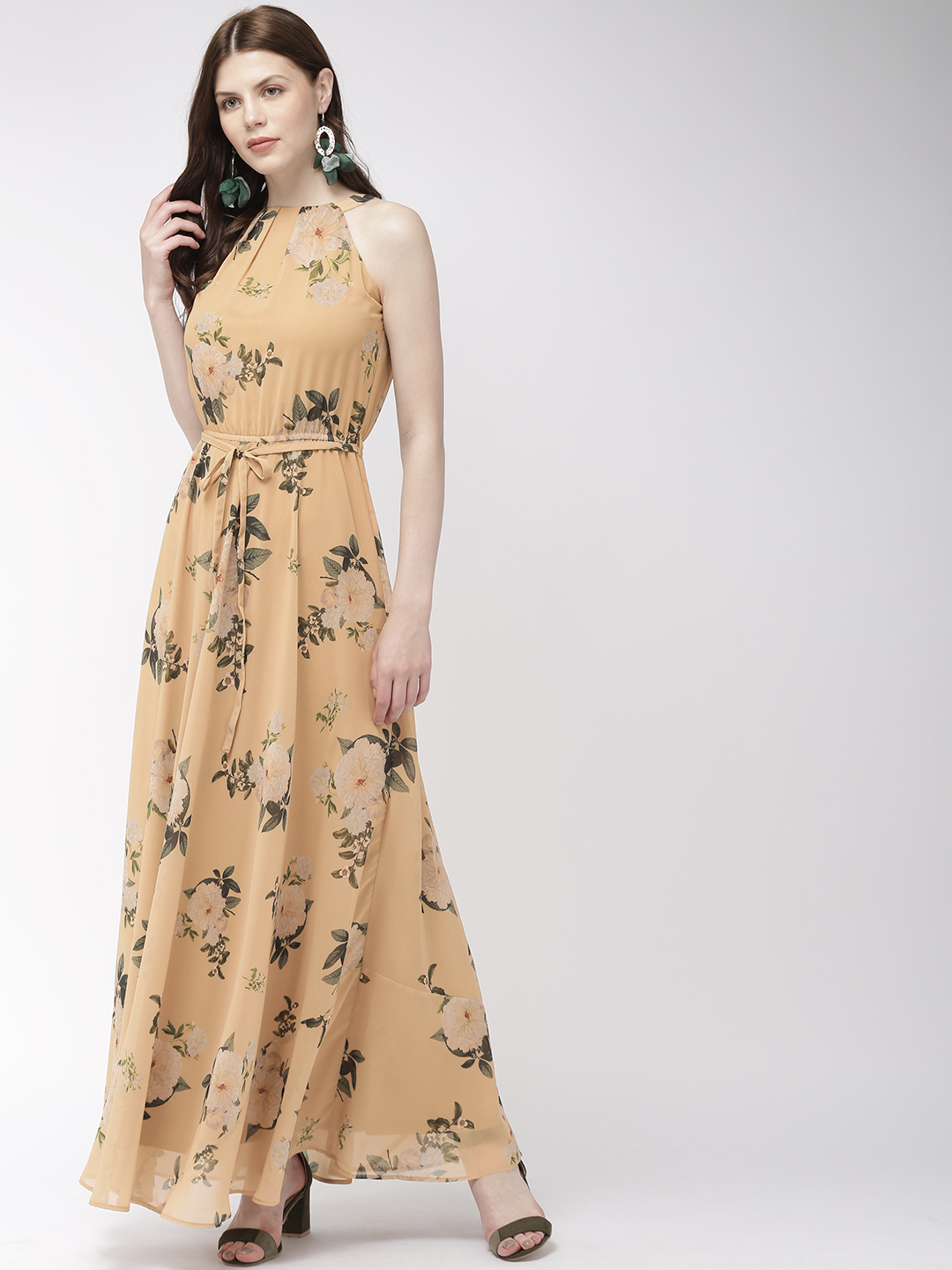 Dresses-Yellow Meet The Blooms Maxi Dress1