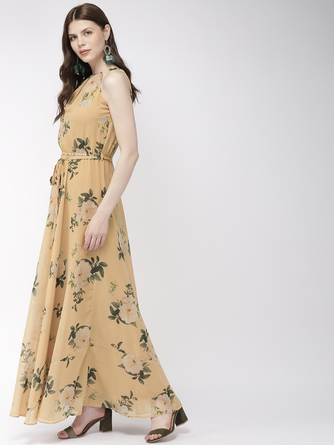 Dresses-Yellow Meet The Blooms Maxi Dress2