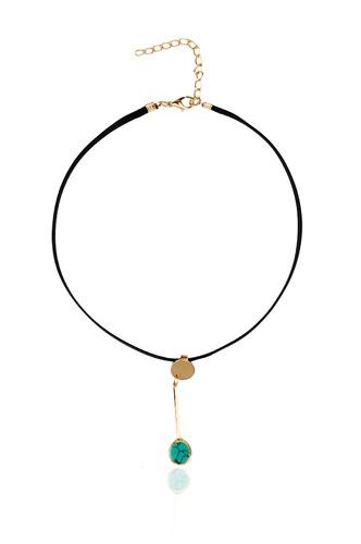 Necklaces-A Drop Of Blue Choker Necklace