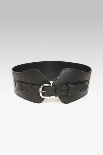 Belts-Band Of Braid Black Waist Belt