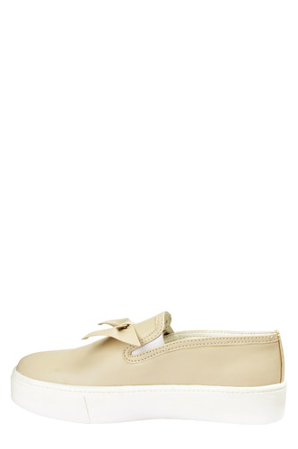 Sneakers and Loafers-Beige Bow Beep Sneakers