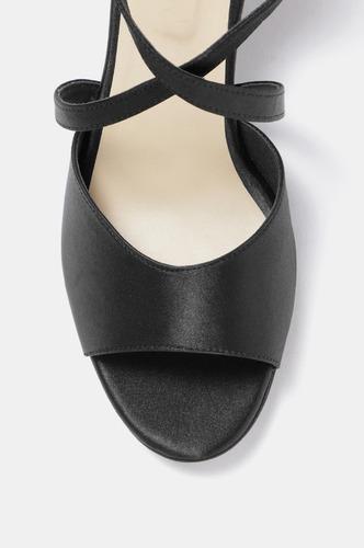 Heels and Wedges-Black Caged In Peep Toe Heels