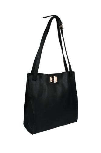 Hand Bags-Black Turn It Up Handbag