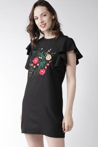 Dresses-Blooms In Black Dress
