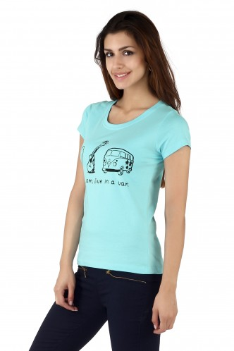 T-Shirts-Blue The Road Trip Life Tee