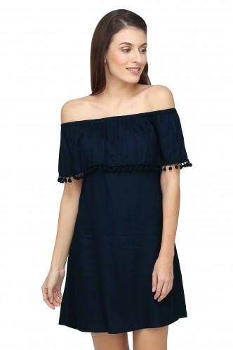 Dresses-Blues Of The Bardot Dress