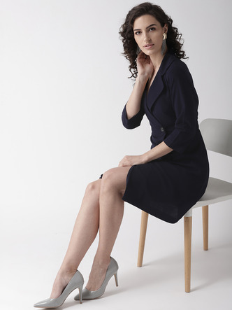 Dresses-Boardroom Chic Blazer Dress