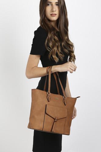 Hand Bags-Brown Pocket The Fun Handbag