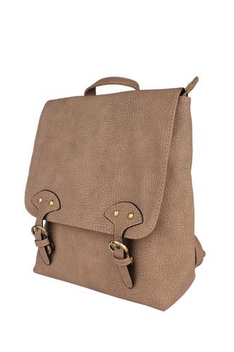Backpacks-Buckled Up Textured Backpack