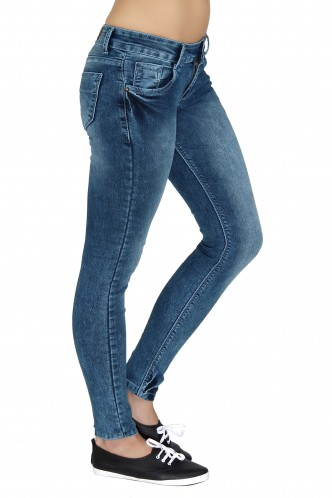 Denims Jeggings and Leggings-Burn Out The Blue Denims
