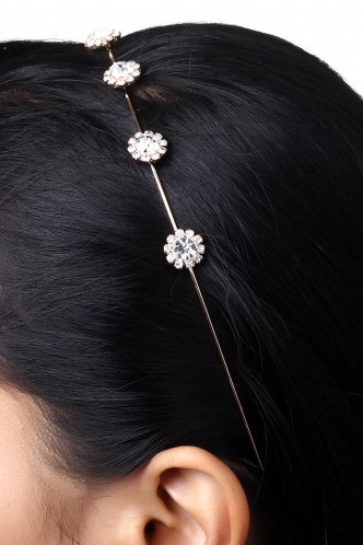 Hair Accessories-Embedded In Diamonds Hairband