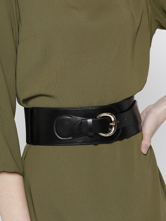 Belts-Fashion Fiesta Black Waist Belt