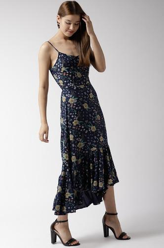 Dresses-Flourishing Florals Midi Dress