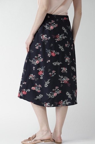Shorts and Skirts-Flower Power Button Down Midi Skirt