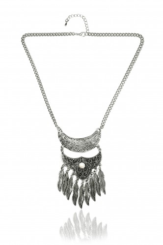 Necklaces-From The Land Of Silver Feathers Necklace