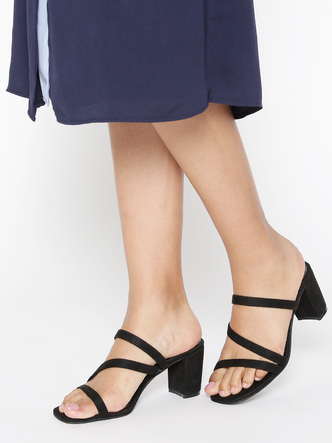 Heels and Wedges-Get It Popping Block Heels