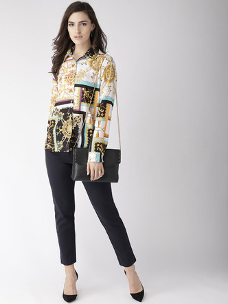 Tops-Giving Into Contemporary Charm Top