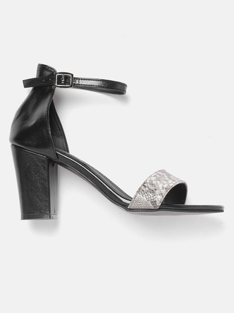 Heels and Wedges-Glamour On The Move Block Heels