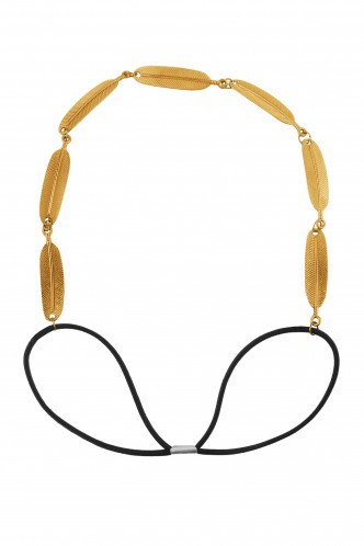 Hair Accessories-Gold Amazon Jungle Elastic Hairband