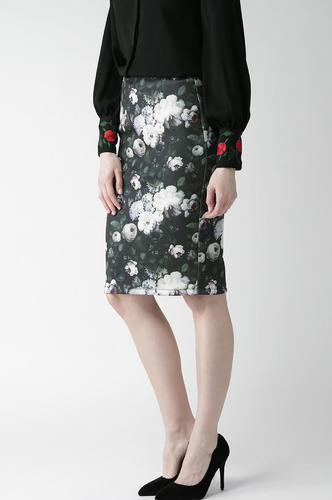 Shorts and Skirts-Hazy In Florals Pencil Skirt