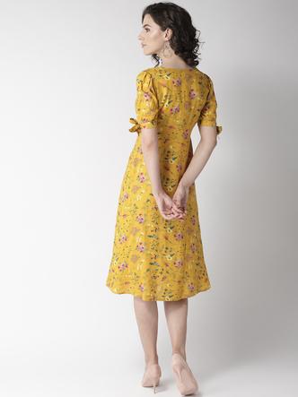 Dresses-Hello Floral Sunshine Midi Dress