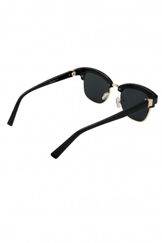 Sunglasses-Instant Stud Crush Black Clubmaster Sunglasses