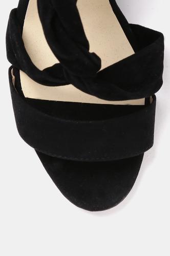 Heels and Wedges-Knot Your Average Black Block Heels