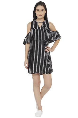 Dresses-Layers Of Stripes Dress