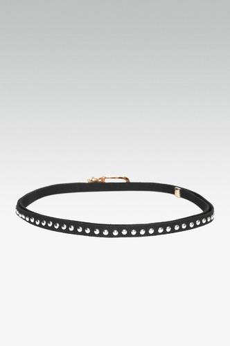 Belts-Lets Get Studded Slim Black Belt