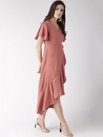 Dresses-Living It Up Peach Midi Dress