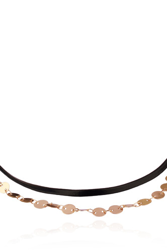 Necklaces-Loops Of Gold Choker Necklace