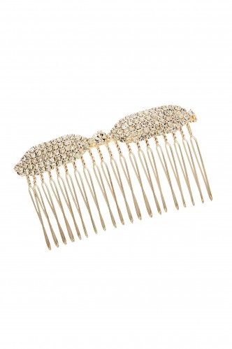 Hair Accessories-My Diamond Studded Bow Haircomb