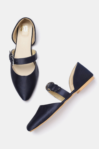 Bellies and Flats-Nights In Blue Satin Flats