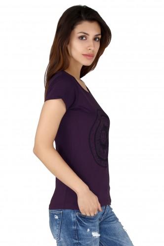 T-Shirts-Purple Sun And The Moon Tee