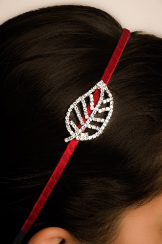 Hair Accessories-Red Autumn Leaf Hairband