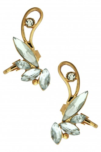 Ear Cuffs-Regal Affair Ear Clip Pair