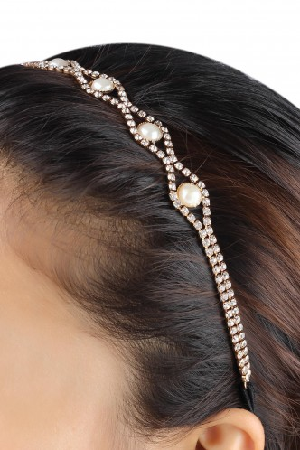 Hair Accessories-Shine On Pearls Hairband