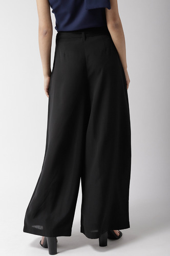 Pants and Palazzos-Show Me Your Class Black Flared Pants