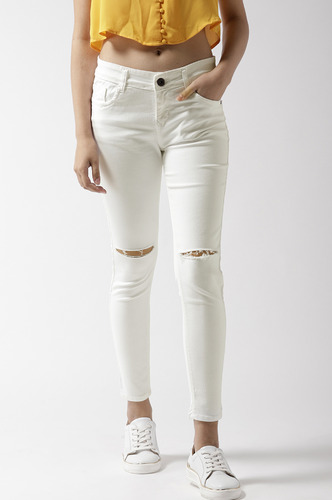Denims Jeggings and Leggings-Shred A Light Denim