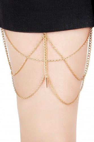 Body Chains-Spike Love Thigh Chain