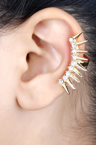 Ear Cuffs-Spikes Of Funk Ear Cuff Pair