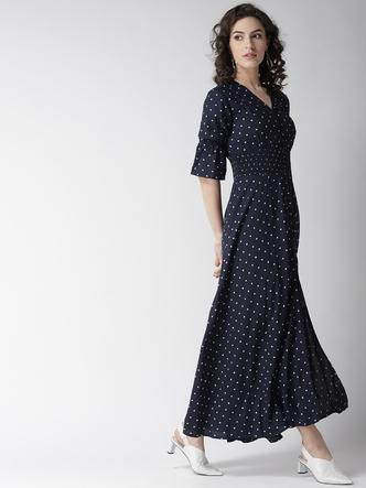 Dresses-Spot On Style Polka Maxi Dress