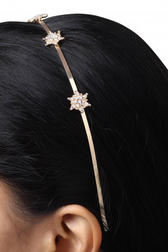 Hair Accessories-Staring At The Snowflakes Hairband