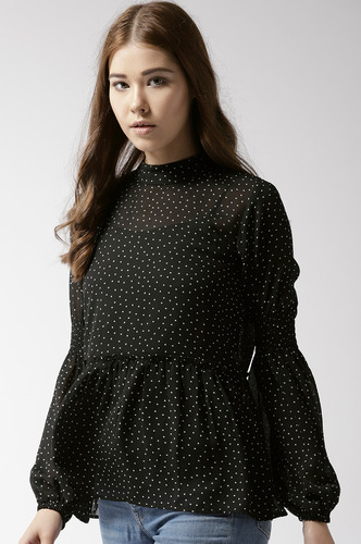 Tops-Stop Dotting On Me Top