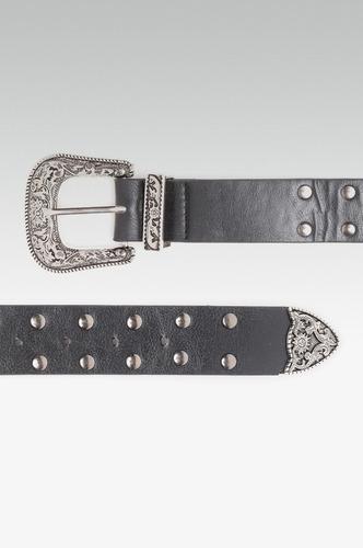 Belts-Striking A Chord Studded Buckle Belt