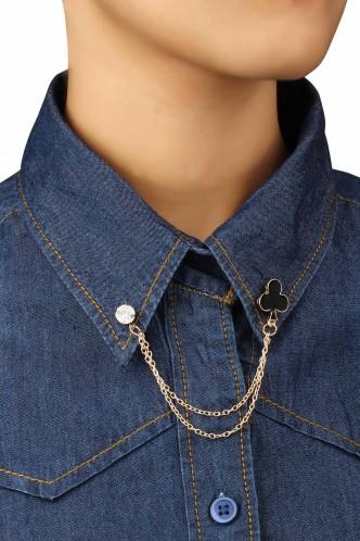Brooches and Collar Pins-The Black Magic Collar Pin