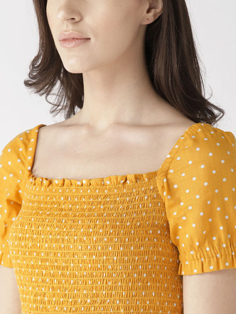 Dresses-The Little Miss Sunshine Polka Dress