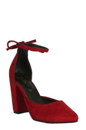 Heels and Wedges-The Magnificent Maroon Block Heels