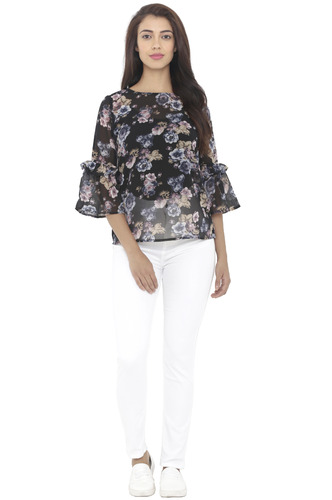 Tops-The Midnight Floral Top