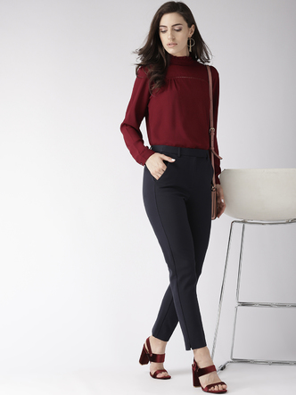 Tops-The New Look Maroon Top